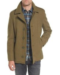 Schott Nyc - Slim Fit Wool Military Jacket - Lyst