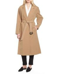 Cole Haan - Double Face Wrap Maxi Jacket - Lyst