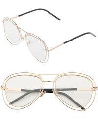 SUNNYSIDE LA - 55mm Aviator Fashion Glasses - - Lyst