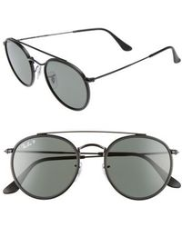 475deebb34f Lyst - Ray-Ban Icons 51mm Round Sunglasses for Men
