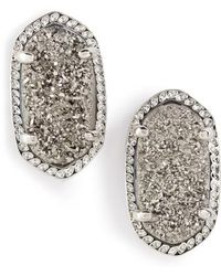Kendra Scott - Ellie Oval Stone Stud Earrings - Lyst