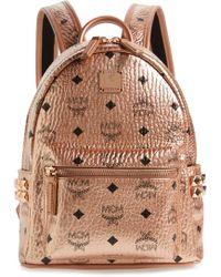MCM - Mini Stark Side Stud Coated Canvas Backpack - - Lyst