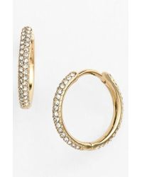 Nadri - Small Pave Hoop Earrings (nordstrom Exclusive) - Lyst