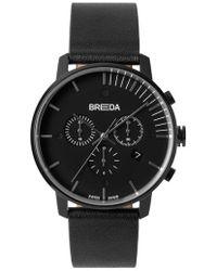 Breda - Phase Chronograph Italian Leather Strap Watch - Lyst