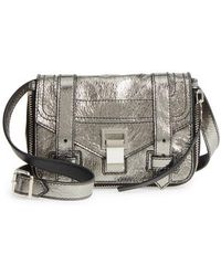 Proenza Schouler - Mini Ps1 Metallic Leather Crossbody Bag - Metallic - Lyst