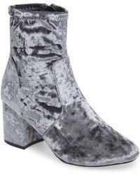 Very Volatile - Eclipse Velvet Sock Bootie - Lyst