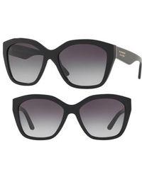 405072afa337 Lyst - Burberry Be4122 30018G Black Sunglasses Grey Gradient Lens in ...