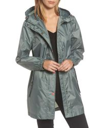 Joules - Right As Rain Packable Hooded Raincoat, Green - Lyst
