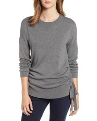 Chelsea28 - Ruched Side Sweater - Lyst