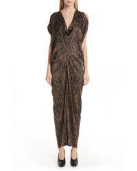 Zero + Maria Cornejo - Miu Hair Print Stretch Silk Dress - Lyst