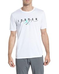 9ec6c330669a Lyst - Nike Pure Money Department Of Flight Graphic T-shirt in White ...