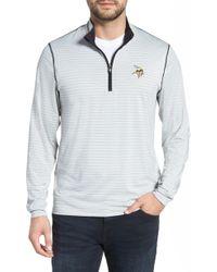 Cutter & Buck - Meridian - Minnesota Vikings Regular Fit Half Zip Pullover - Lyst