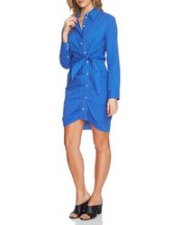 1.STATE - Ruched Button Down Shirtdress - Lyst