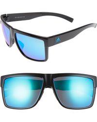 b0aead4743bd2 Lyst - adidas 3matic 60mm Sunglasses - in Blue