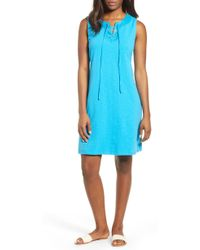 Tommy Bahama - Lace-up Shift Dress - Lyst