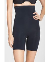 Spanx | Spanx Higher Power Mid-thigh Shaping Shorts | Lyst