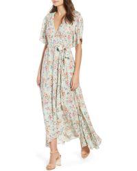 Raga - Secret Escape Floral Faux Wrap Maxi Dress - Lyst