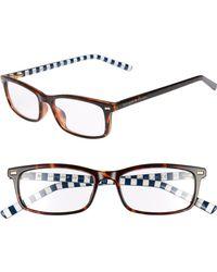 Kate Spade - Jodie 50mm Rectangular Reading Glasses - Havana Pattern - Lyst