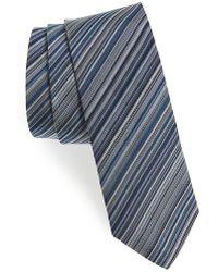 Paul Smith | Multistripe Silk Skinny Tie | Lyst