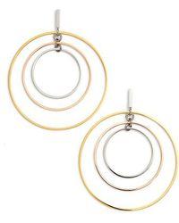 Tory Burch - Wire Hoop Earrings - Lyst