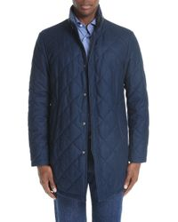Canali - Reversible Quilted Wool Coat - Lyst