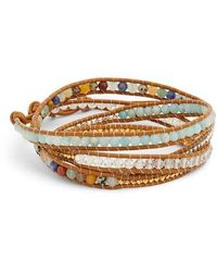 Chan Luu - Mixed Semiprecious Stone Leather Wrap Bracelet - Lyst