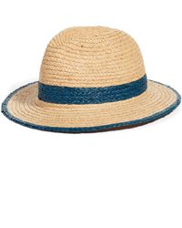 Treasure & Bond - Contrast Trim Straw Panama Hat - Lyst