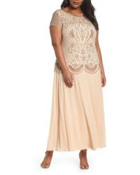 Pisarro Nights - Embellished Mock Two-piece Gown - Lyst