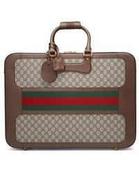 Gucci - Large Echo Gg Supreme Canvas & Leather Suitcase - - Lyst
