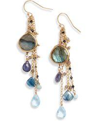 Ela Rae - Semiprecious Stone Drop Earrings - Lyst