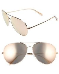 Oliver Peoples - Sayer 63mm Oversized Aviator Sunglasses - - Lyst