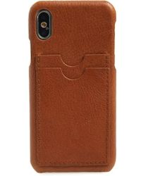 Madewell - Card Slot Leather Iphone X/xs Case - Lyst