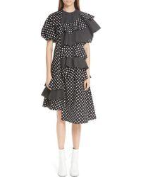 Paskal - Puff Sleeve Asymmetrical Frill Dress - Lyst