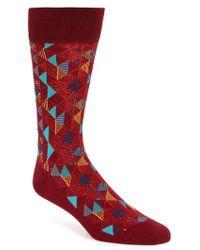 Bugatchi - Geometric Socks - Lyst
