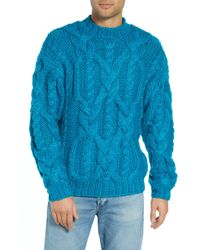 TOPMAN - Classic Cable Knit Sweater - Lyst