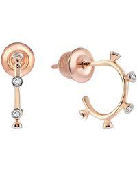 Kismet by Milka - Diamond Hoop Earring - Lyst