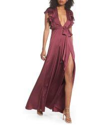 JILL Jill Stuart - Ruffle Sleeve Gown - Lyst