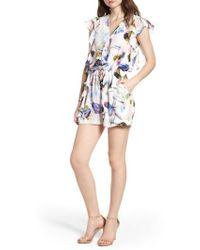 BISHOP AND YOUNG - Bishop + Young Elle Print Romper - Lyst