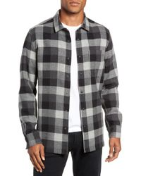 Jeremiah - Travis Regular Fit Reversible Flannel Shirt Jacket - Lyst