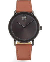 Movado - Bold Evolution Leather Strap Watch - Lyst
