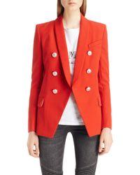 Balmain - Oversize Wool Blazer - Lyst