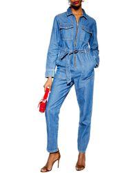 9d3e69d489 Lyst - Denim Jumpsuits - Women s Designer Denim Jumpsuits
