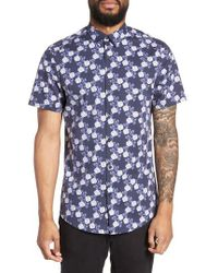 Calibrate - Trim Fit Short Sleeve Sport Shirt - Lyst