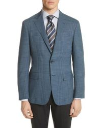 Canali - Kei Classic Fit Plaid Wool Sport Coat - Lyst