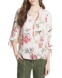 Joie - Corsen Floral Silk Blouse - Lyst