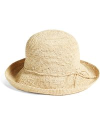 71b99fba2b16c Lyst - Helen Kaminski Wide Raffia Boater Hat - in Natural