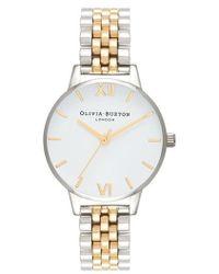 Olivia Burton - Two-tone Round Bracelet Watch - Lyst