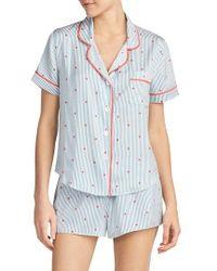 Room Service | Satin Pajama Top | Lyst