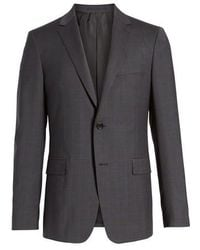 Theory - Wellar Grey Blue Plaid Sport Coat - Lyst