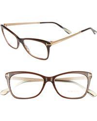 Tom Ford - 52mm Cat Eye Optical Glasses - - Lyst